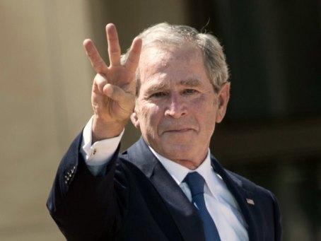 dubya-fingers America