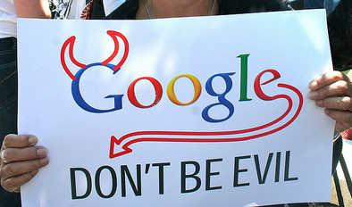 google evil sign